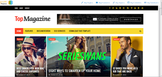 Download Top Magazine Blogger Template Responsive Terbaru
