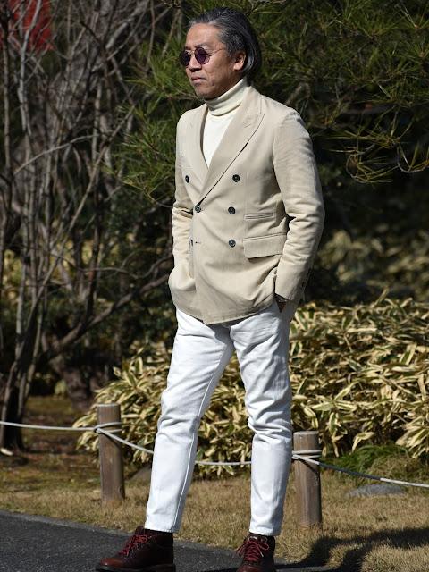40代メンズの白を中心としたスタイル