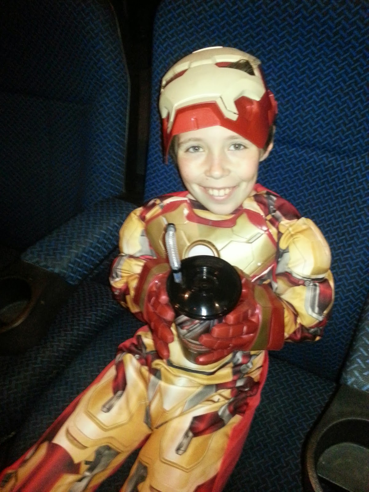 Boy in Iron Man Costume