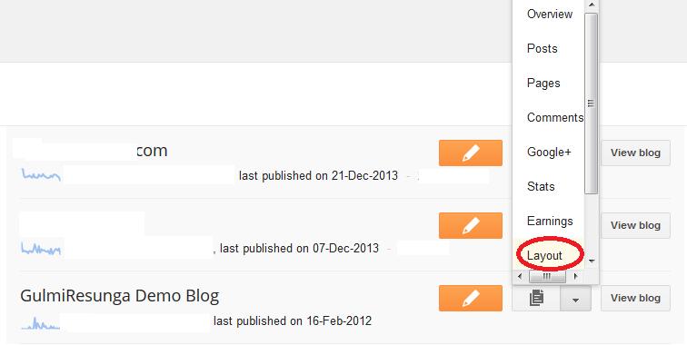 remove blog navbar