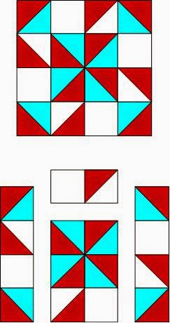 make a quilt block with triangles