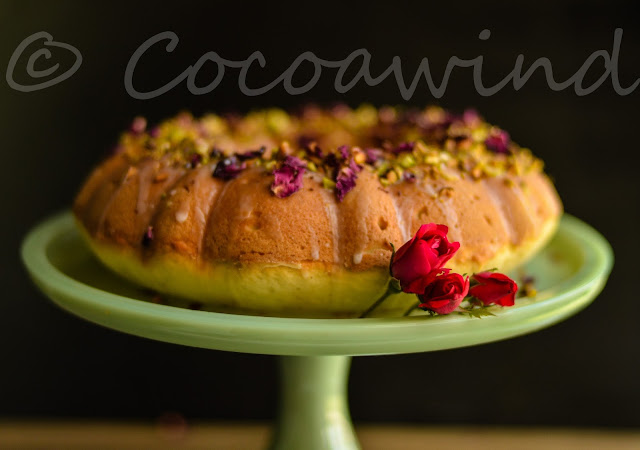 Cardamom Rosewater Pistachio Cake - Festive Flavors - Cocoawind