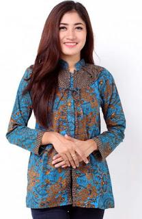 Contoh Model Baju Batik Kerja