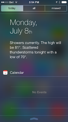 Slightly tweaked notification center UI (text messages texts are now transparent as well)