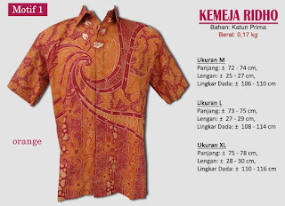 Grosir kemeja batik pria murah dan berkualitas (batik pekalongan)- ridho motif 1