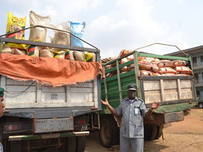 9000 bags smuggled rice seized bodija market