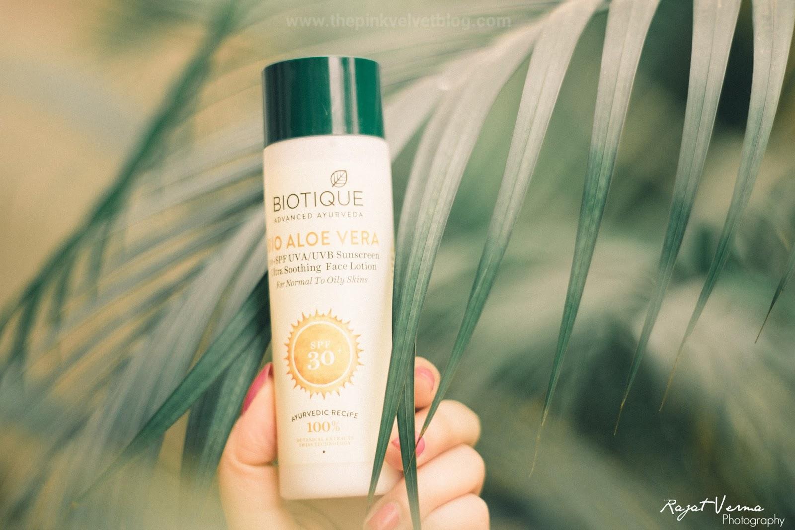 Biotique Aloe Vera Sunscreen SPF 30+ UVA/UVB (For Normal to Oily Skin)