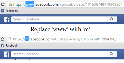 replace the URL