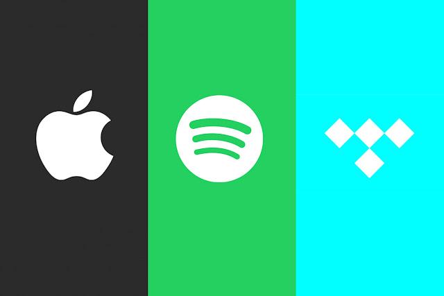 Apple Music, Spotify, Tidal