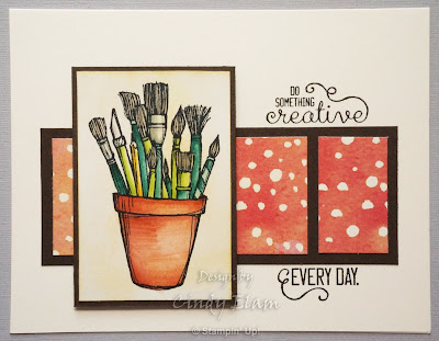 Crafting Forever, Stampin' Up!, Hand Stamped, Watercolored, Handmade Card