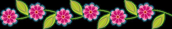 Resultado de imagen de barras separadoras flores verdes
