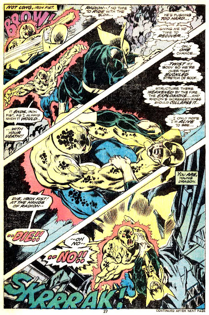 Iron Fist v1 #4 marvel bronze age comic book page art by John Byrne