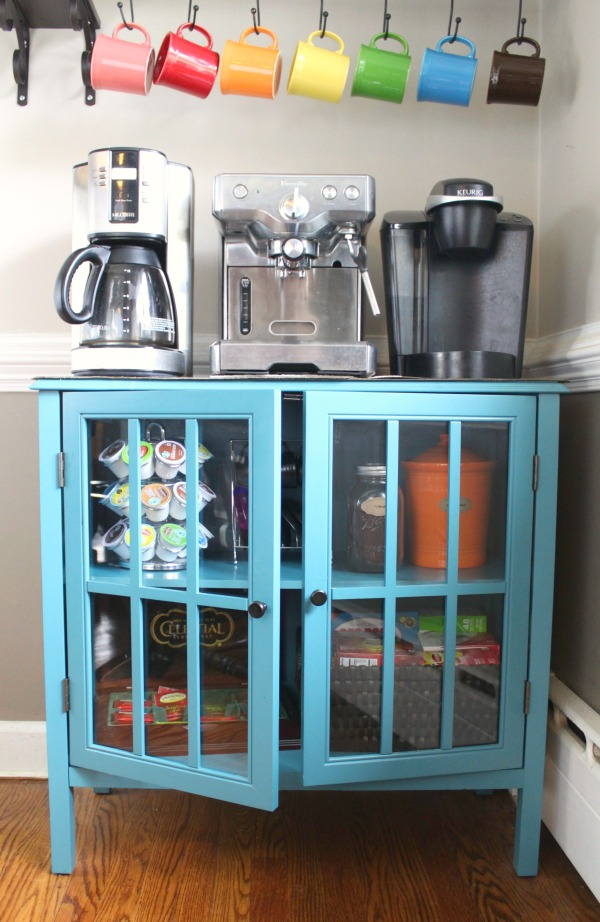How to create an organized coffee and tea station