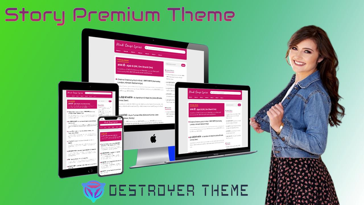 Story Premium Blogger Theme