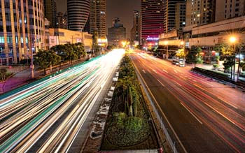 Wallpaper: Traffic on the Shanghai streets