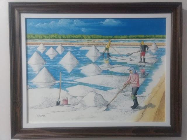 Os coletores de sal de Chaval | Pintura de Frank Carneiro