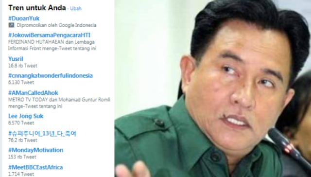 Heboh Tagar #JokowiBersamaPengacaraHTI, Netizen: Ormas Terlarang akan jadi Ormas Tersayang?