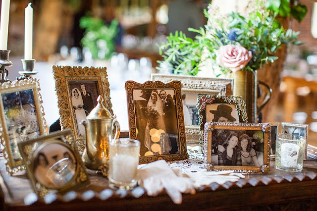 Photo table at wedding
