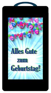 Handy Schiebekarte: Innenteil mit Nachricht