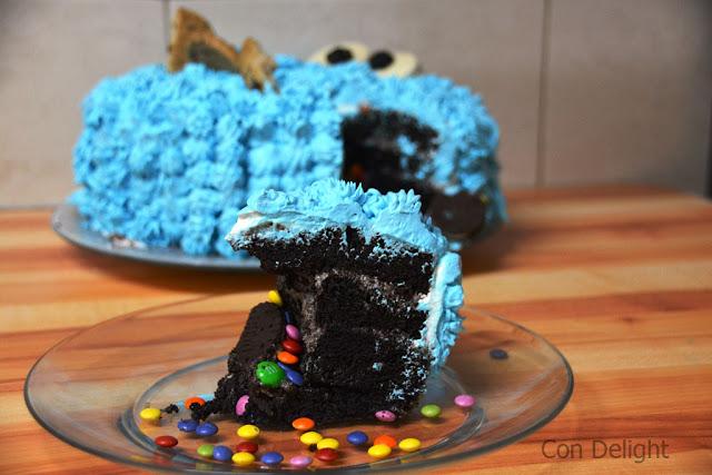 Cooke monster cake slice פרוסת עוגה עוגיפלצת ימי הולדת