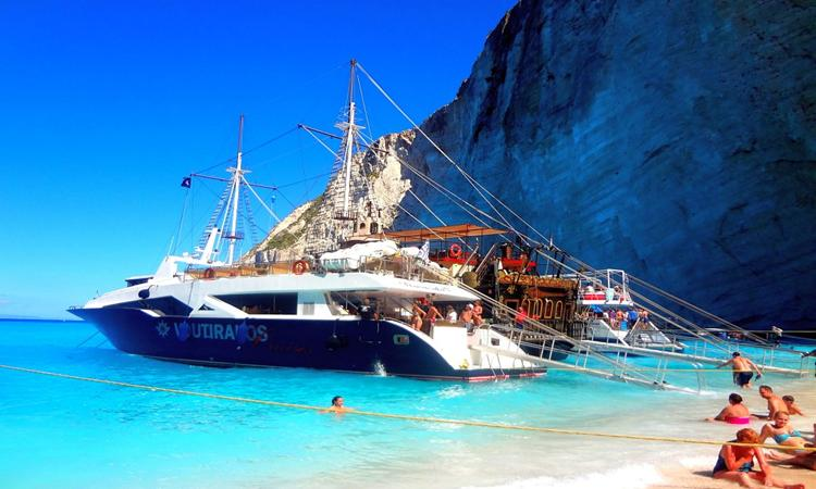 The most famous boat trips of Zante, Greece