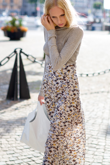 Emerson Fry New York column skirt and turtleneck