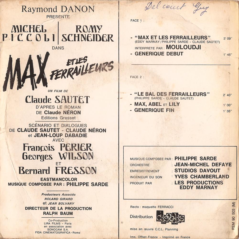 Philippe Sarde Max Et Les Ferrailleurs
