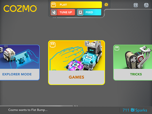 cozmo main app screen