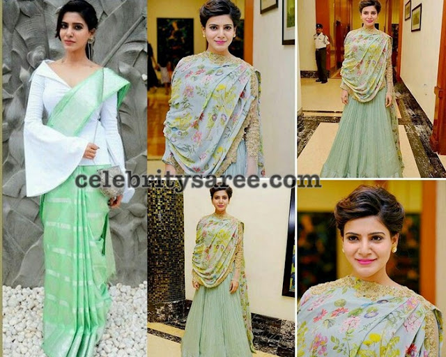 Samantha-akkineni-stylish-saree-drape