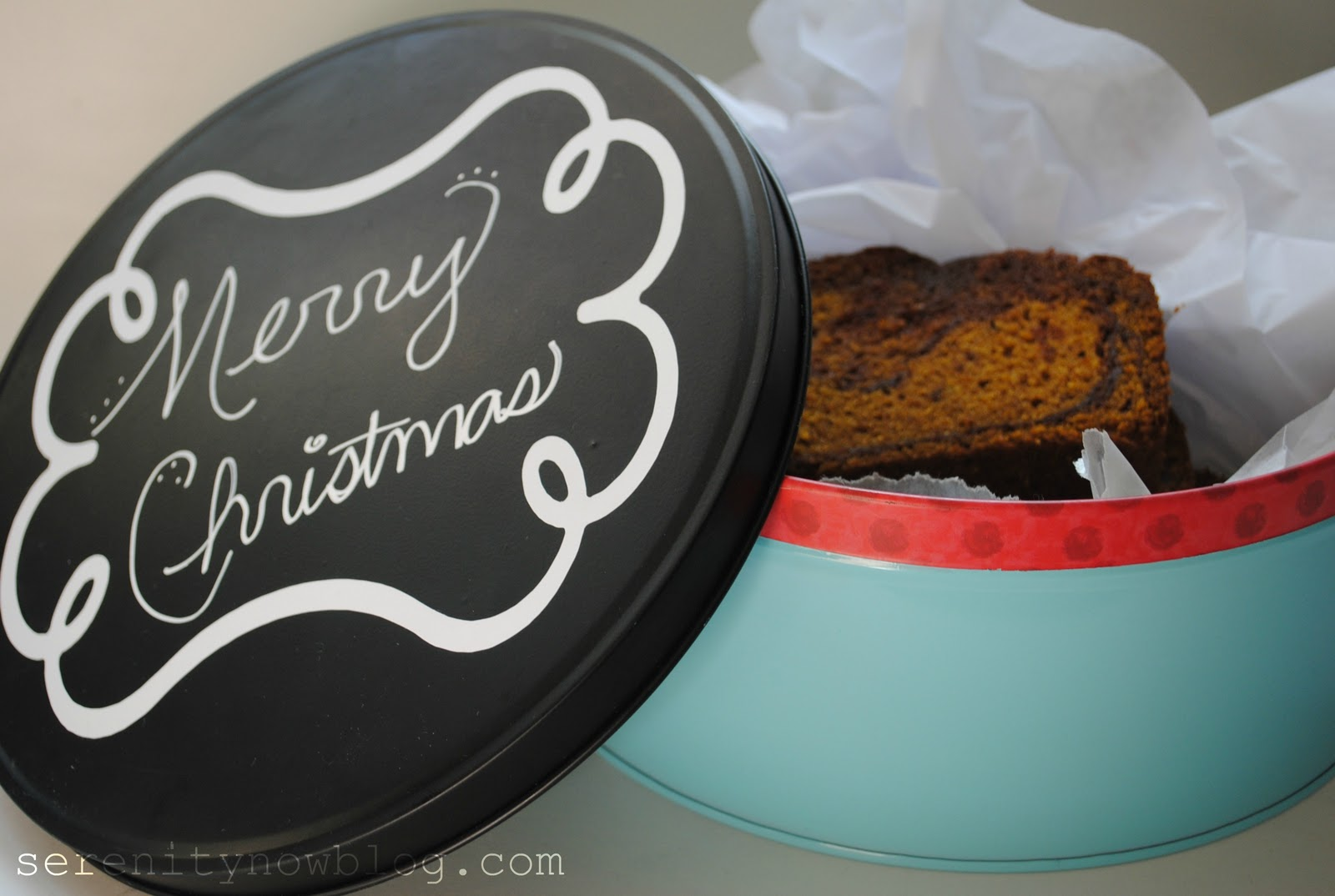 Chalkboard Cookie Tin Serenity Now Infarrantly Creative