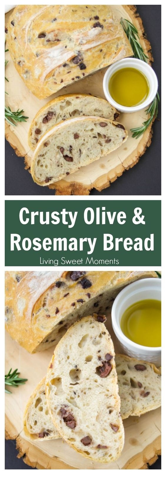 BREAD RECIPES | Rosemary Olive Bread Recipe