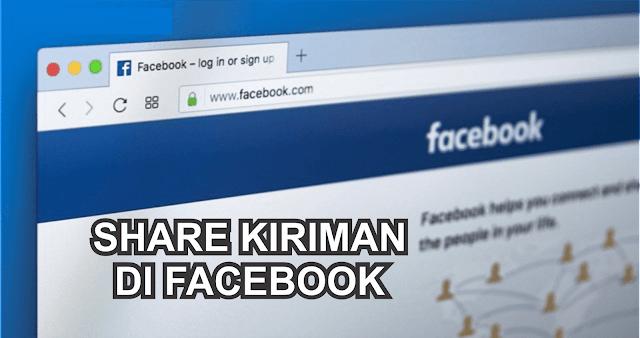 Cara Membagikan Kiriman Sendiri/Orang Lain Ke Group atau Halaman di Facebook