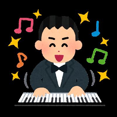 好調な音楽家のイラスト(男性)