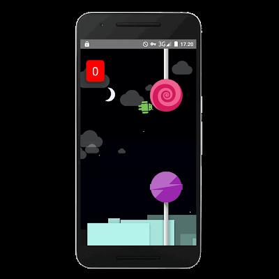 Kumpulan Game rahasia tersembunyi di Android : flappy droid