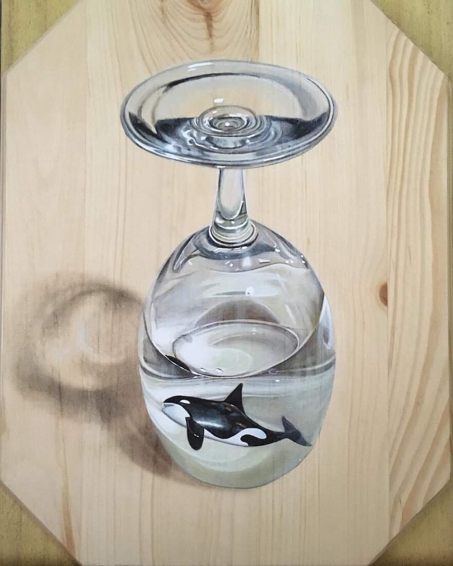 06-Killer-Whale-Orca-in-a-Glass-Ivan-Hoo-Domestic-and-Wild-Animal-drawings-and-paintings-www-designstack-co