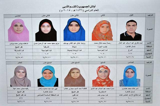 أسماء وصور أوائل الثانوية الازهرية علمى وادبى 2017