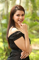 Mannara Chopra in Short Off Shoulder Black Dress ~  Exclusive 048.JPG