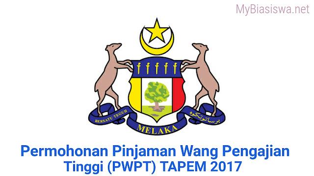 Permohonan Pinjaman Wang Pengajian Tinggi (PWPT) TAPEM 2017 Online