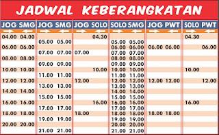 Jadwal Joglosemar Semarang Jogjakarta dan Solo