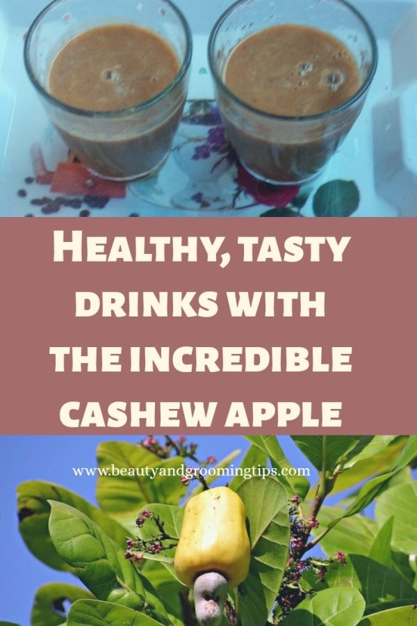 healthy, tasty drinks with cashew apple or cashew fruit