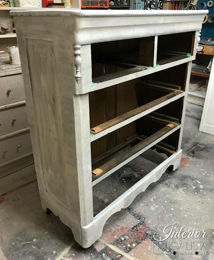 Red Antique Empire Dresser Primed