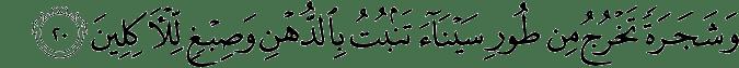 Surat Al Mu'minun ayat 20