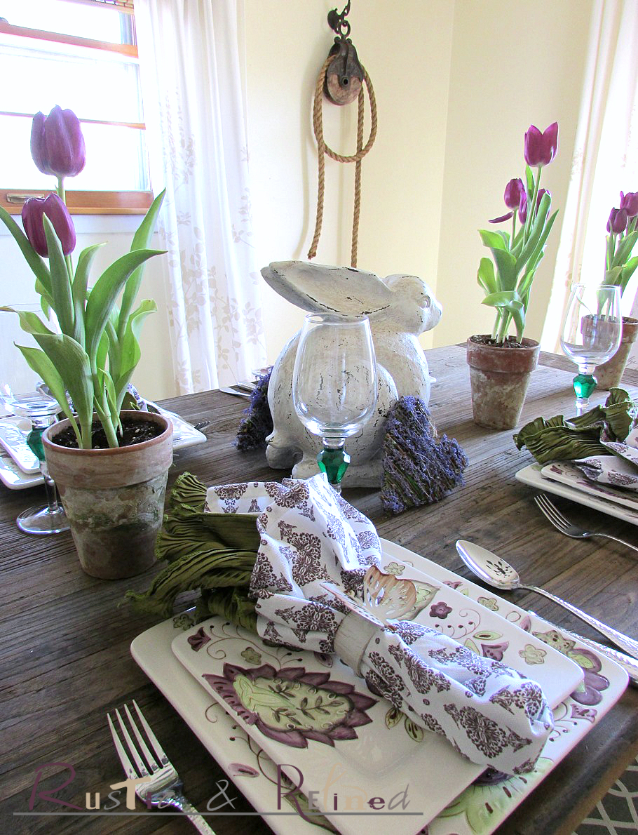 Bon Pretty Spring Table Setting