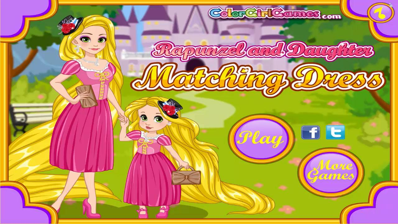 Rapunzel And Daughter Matching Dress Yeah Baby Games
