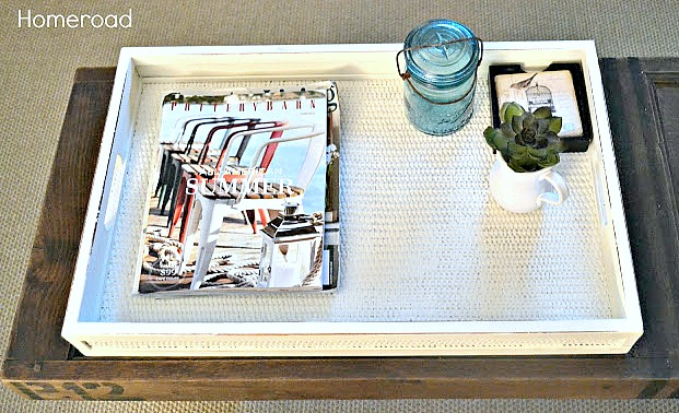 Upcycling a Woven Nautical Tray. Homeroad.net