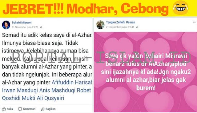 Pengamat politik Tengku Zulkifli Hasan ikut berkomentar atas pernyataan politisi PDIP Zuhairi Misrawi yang mengatakan bahwa Ust. Abdul Somad cuma bisa melucu.