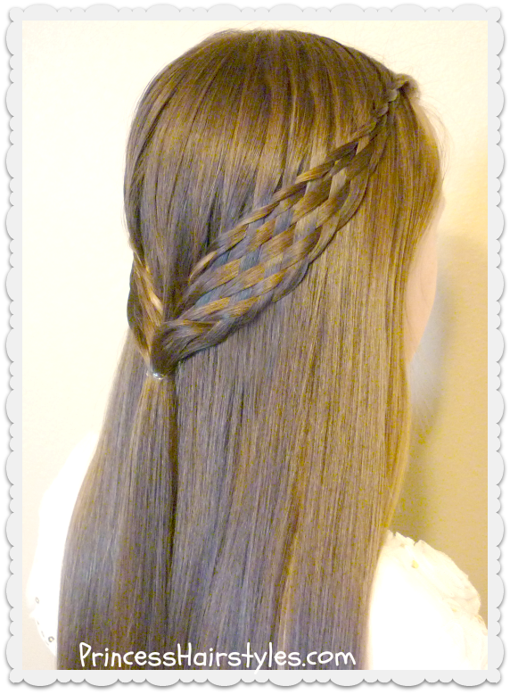 Woven Braid Pull Back Hairstyle - Hairstyles For Girls ...
