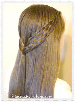 Pretty woven half up hairstyle