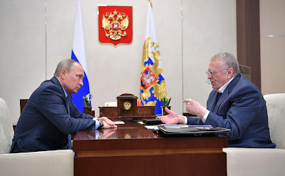 President Putin and leader of LDPR faction Vladimir Zhirinovsky.