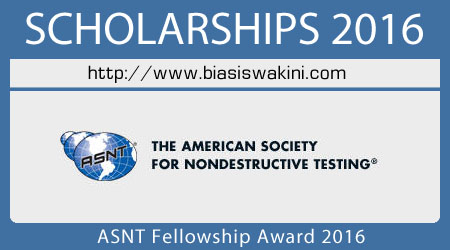ASNT Fellowship Award 2016